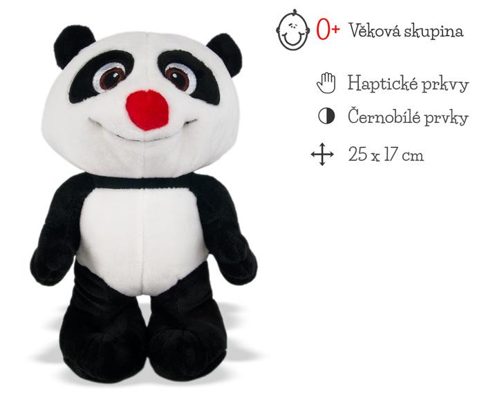 plysovy krtek a panda