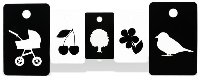 černobílé kartičky pro miminka
