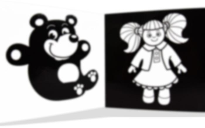 černobílé leporelo