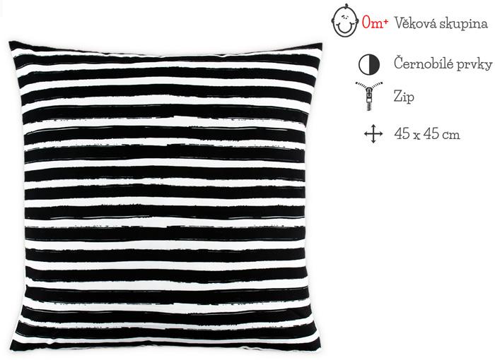 černobílý polštář